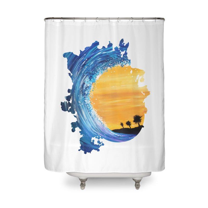 Tidal Wave Home Shower Curtain by adamzworld's Artist Shop