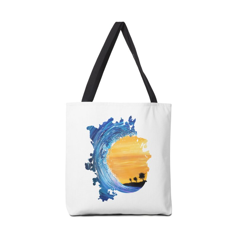 Tidal Wave Accessories Bag by adamzworld's Artist Shop