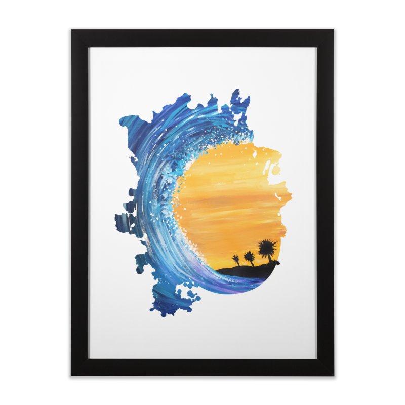 Tidal Wave Home Framed Fine Art Print by adamzworld's Artist Shop
