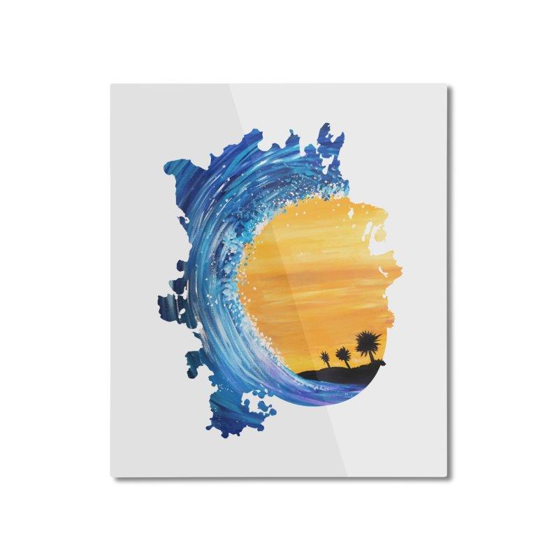 Tidal Wave Home Mounted Aluminum Print by adamzworld's Artist Shop