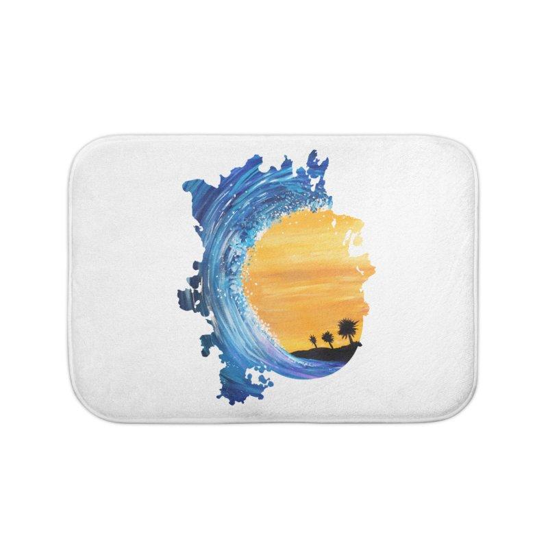Tidal Wave Home Bath Mat by adamzworld's Artist Shop