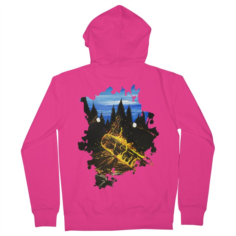 Camp Fire Men's Zip-Up Hoody by adamzworld's Artist Shop