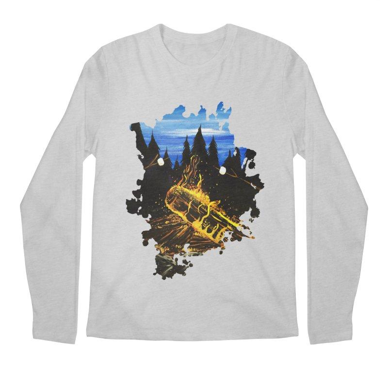 Camp Fire Men's Longsleeve T-Shirt by adamzworld's Artist Shop