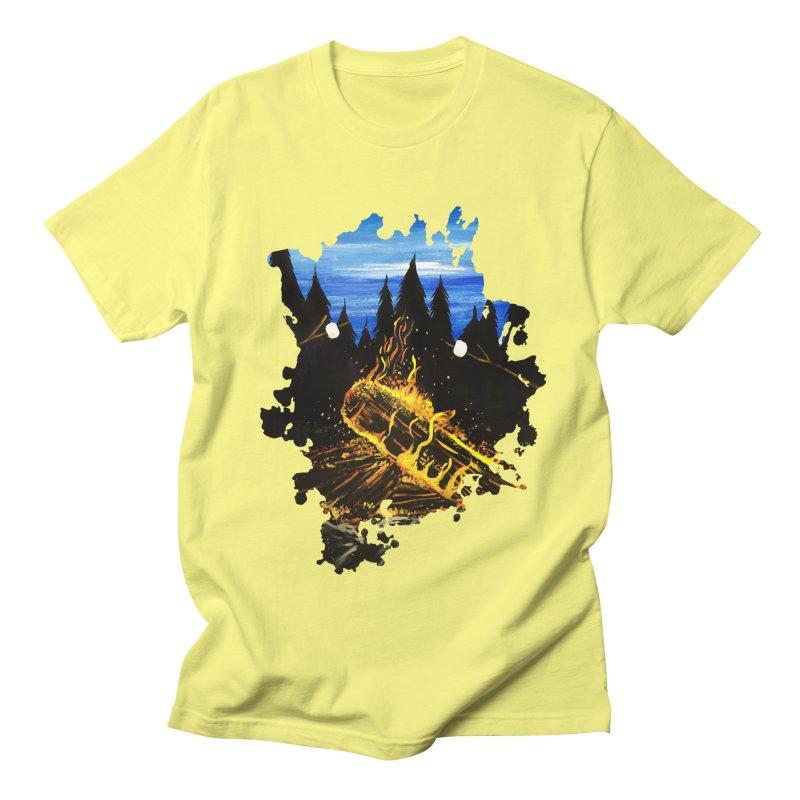 Camp Fire Men's T-Shirt by adamzworld's Artist Shop