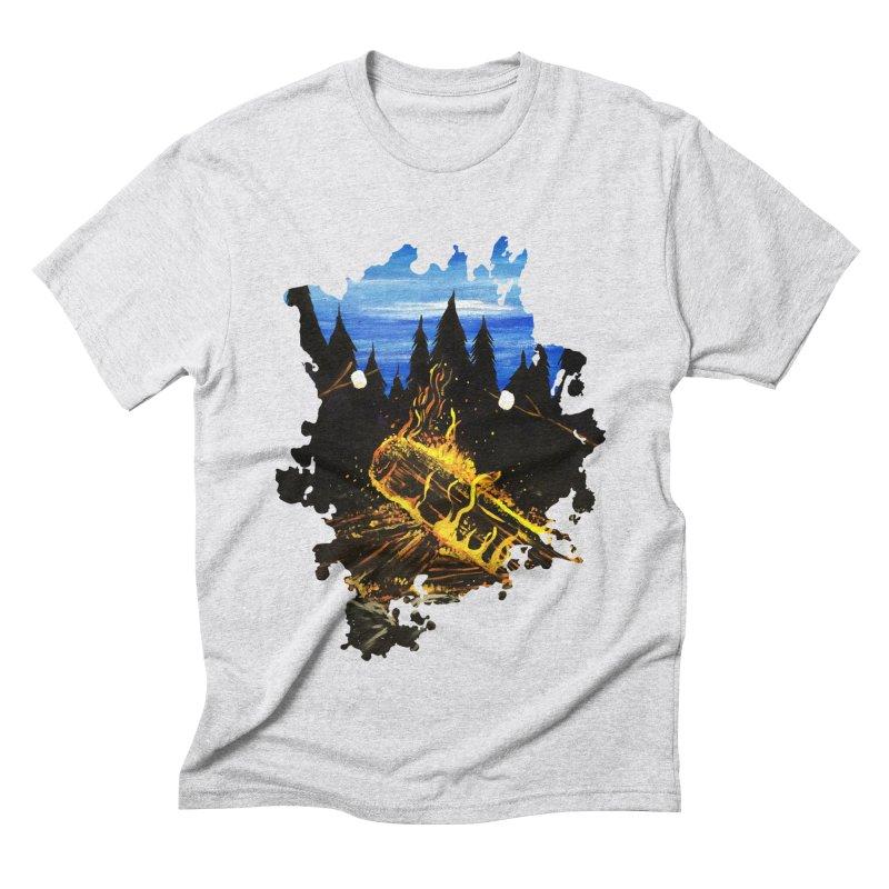 Camp Fire Men's Triblend T-Shirt by adamzworld's Artist Shop