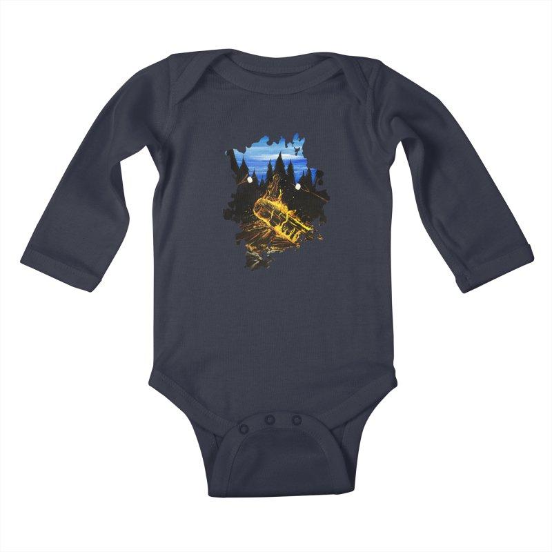 Camp Fire Kids Baby Longsleeve Bodysuit by adamzworld's Artist Shop