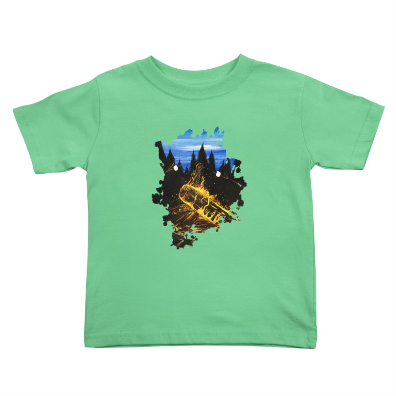 Camp Fire Kids Toddler T-Shirt by adamzworld's Artist Shop