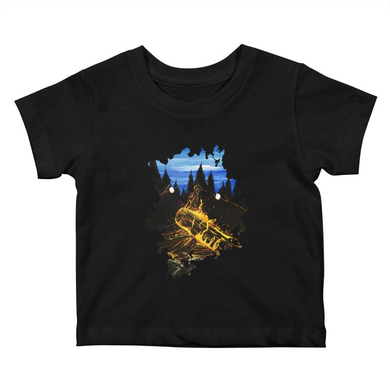 Camp Fire Kids Baby T-Shirt by adamzworld's Artist Shop