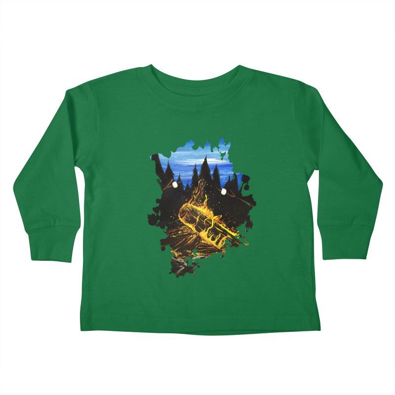 Camp Fire Kids Toddler Longsleeve T-Shirt by adamzworld's Artist Shop