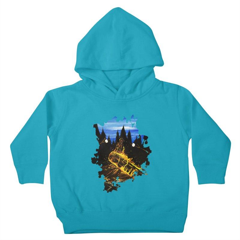 Camp Fire Kids Toddler Pullover Hoody by adamzworld's Artist Shop