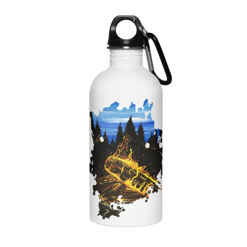 Camp Fire Accessories Water Bottle by adamzworld's Artist Shop
