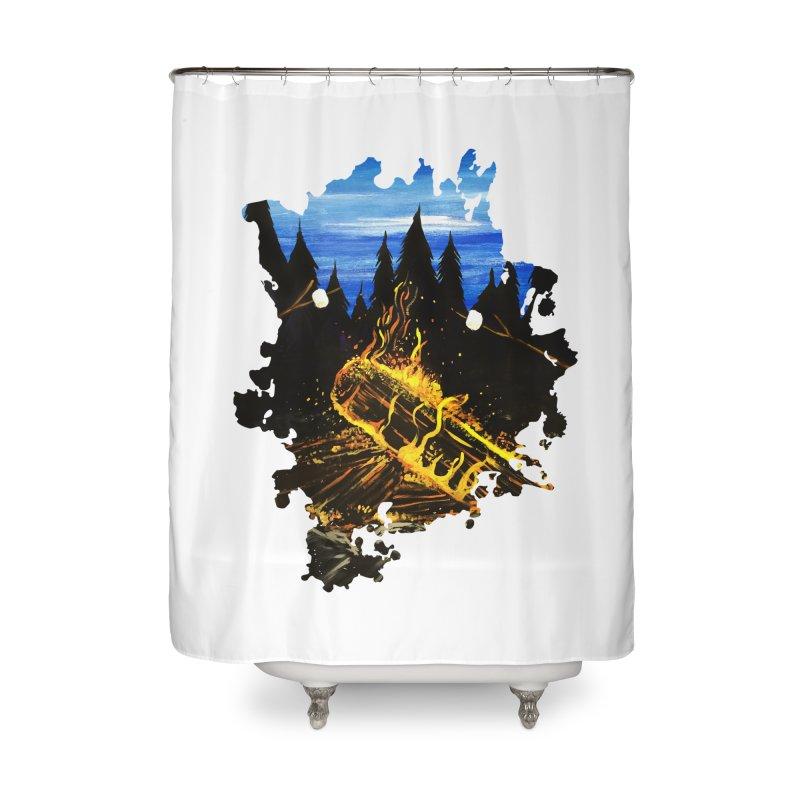 Camp Fire Home Shower Curtain by adamzworld's Artist Shop