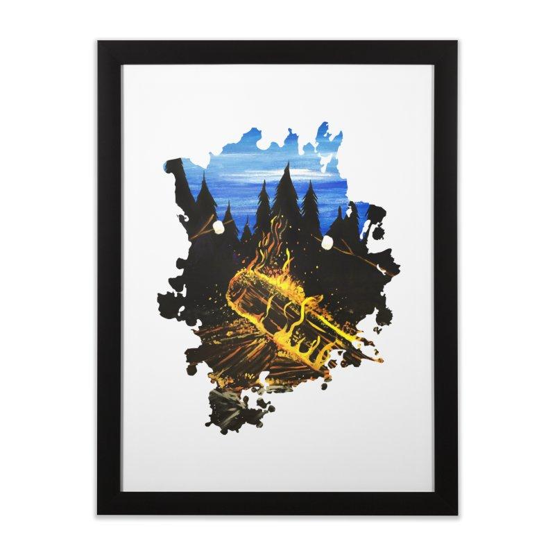 Camp Fire Home Framed Fine Art Print by adamzworld's Artist Shop