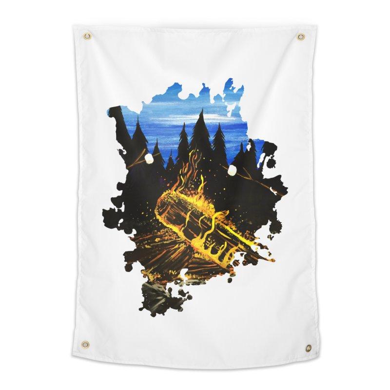Camp Fire Home Tapestry by adamzworld's Artist Shop