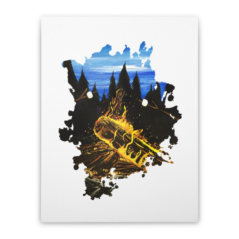 Camp Fire Home Stretched Canvas by adamzworld's Artist Shop