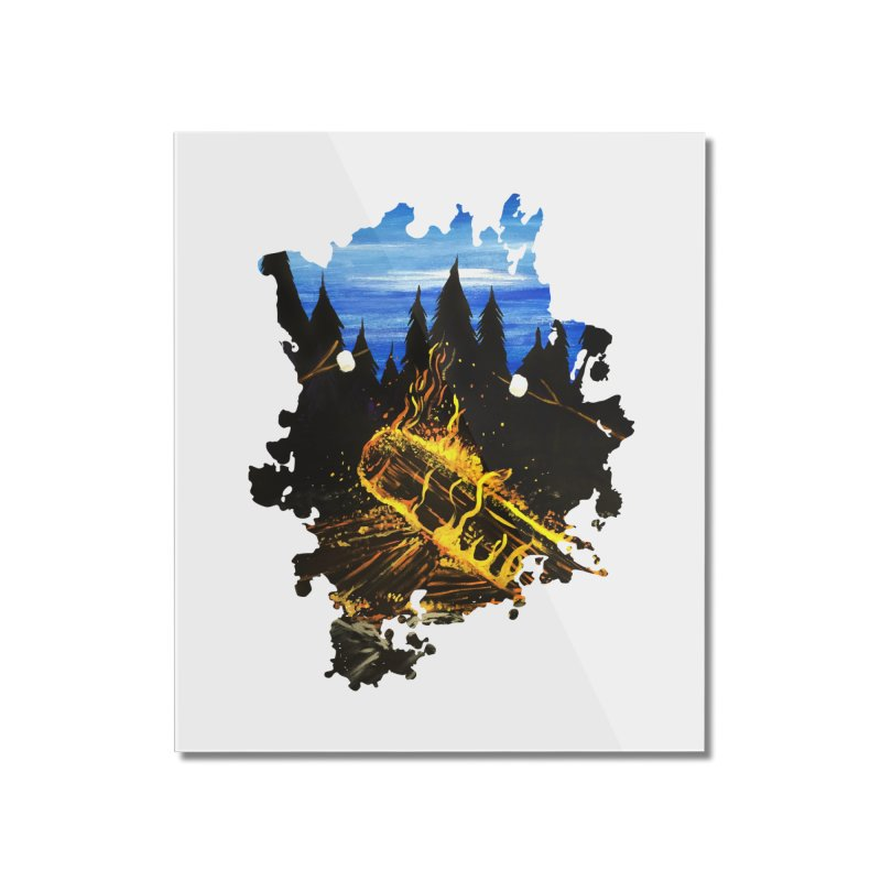 Camp Fire Home Mounted Acrylic Print by adamzworld's Artist Shop
