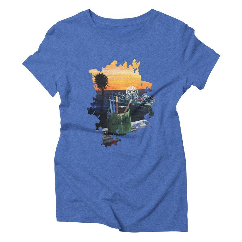Artist View Women's Triblend T-Shirt by adamzworld's Artist Shop