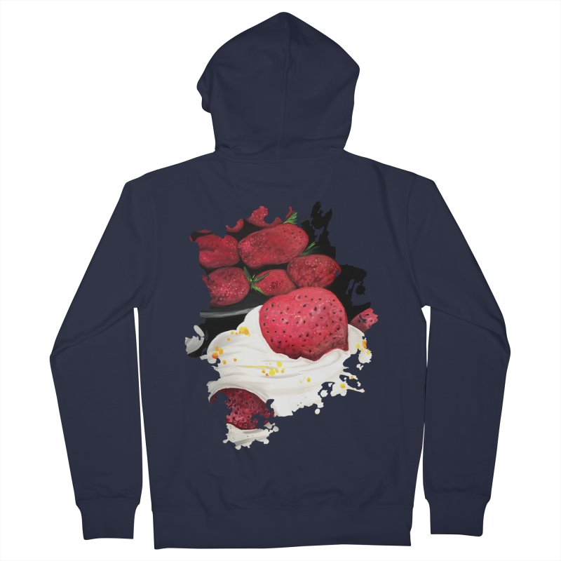 Strawberry Dream Men's Zip-Up Hoody by adamzworld's Artist Shop