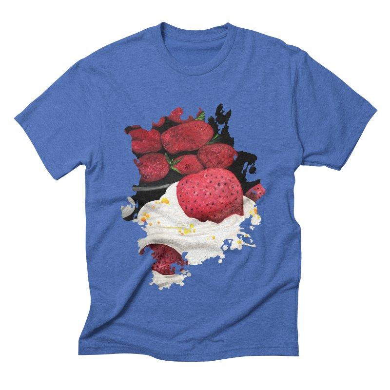 Strawberry Dream Men's Triblend T-Shirt by adamzworld's Artist Shop