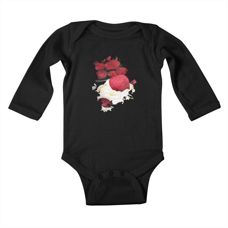 Strawberry Dream Kids Baby Longsleeve Bodysuit by adamzworld's Artist Shop