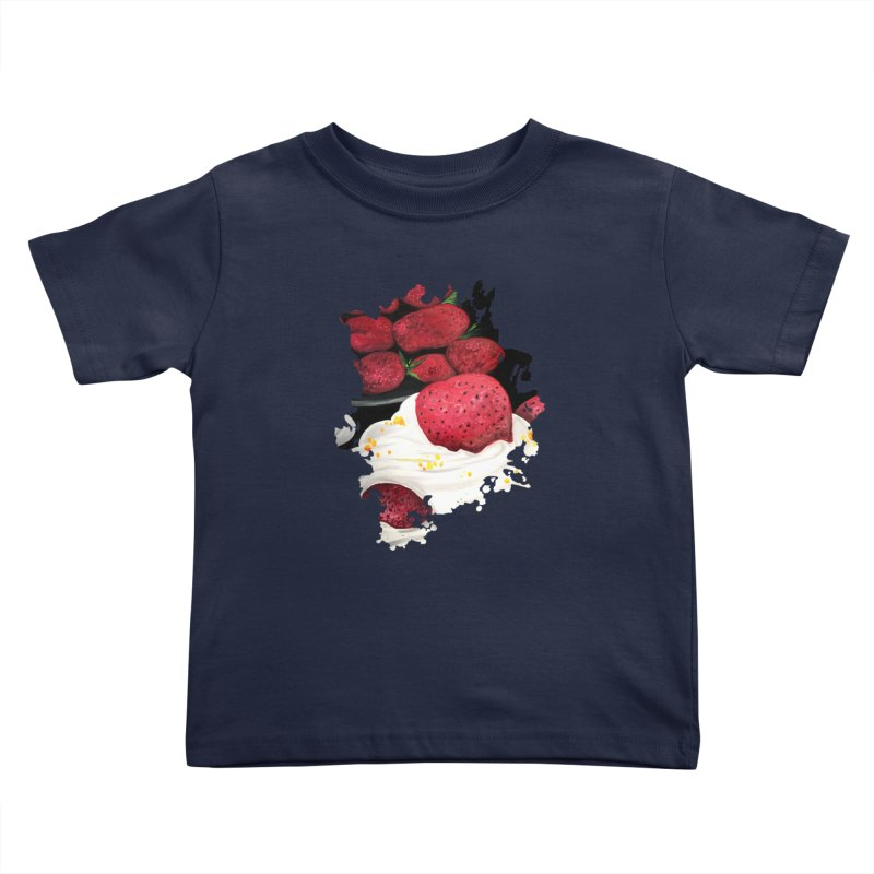 Strawberry Dream Kids Toddler T-Shirt by adamzworld's Artist Shop