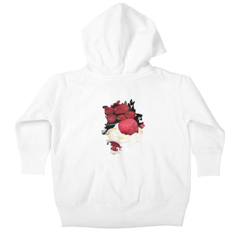 Strawberry Dream Kids Baby Zip-Up Hoody by adamzworld's Artist Shop