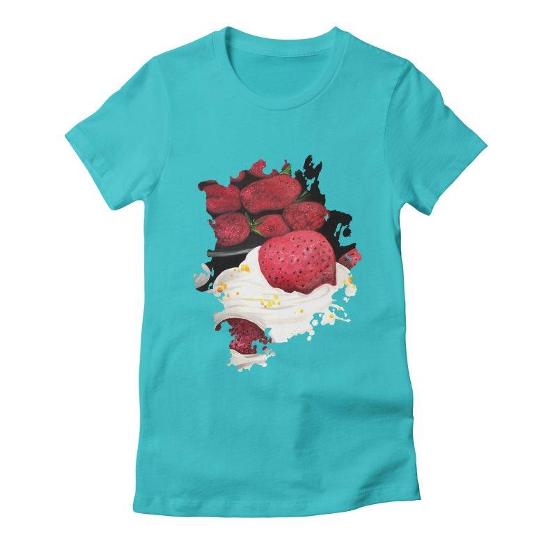 Strawberry Dream Women's Fitted T-Shirt by adamzworld's Artist Shop