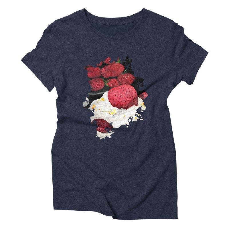 Strawberry Dream Women's Triblend T-Shirt by adamzworld's Artist Shop