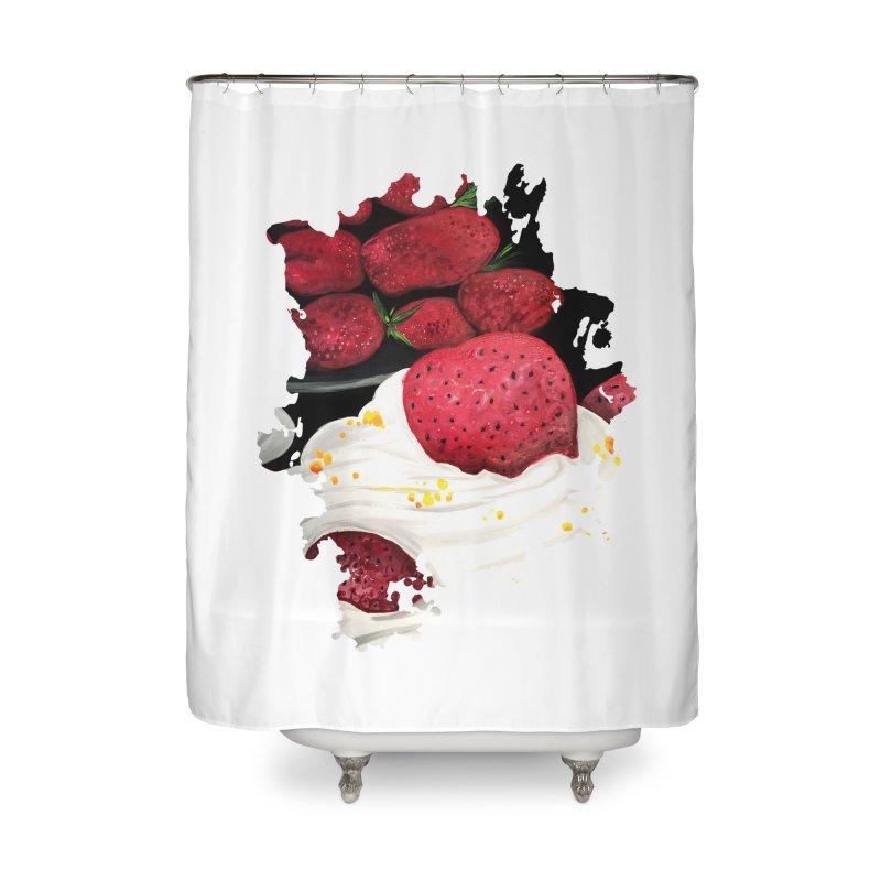 Strawberry Dream Home Shower Curtain by adamzworld's Artist Shop
