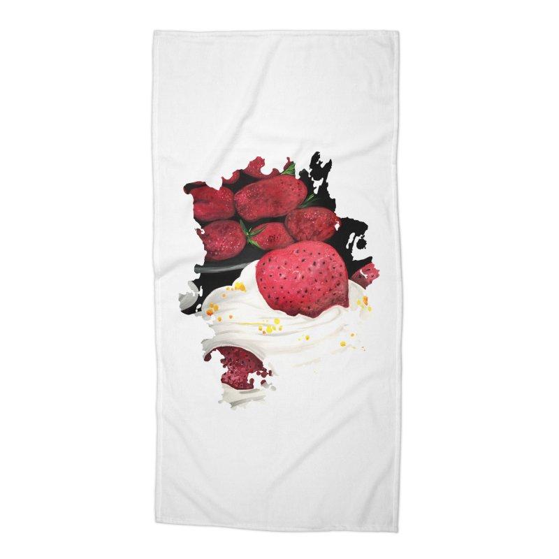Strawberry Dream Accessories Beach Towel by adamzworld's Artist Shop