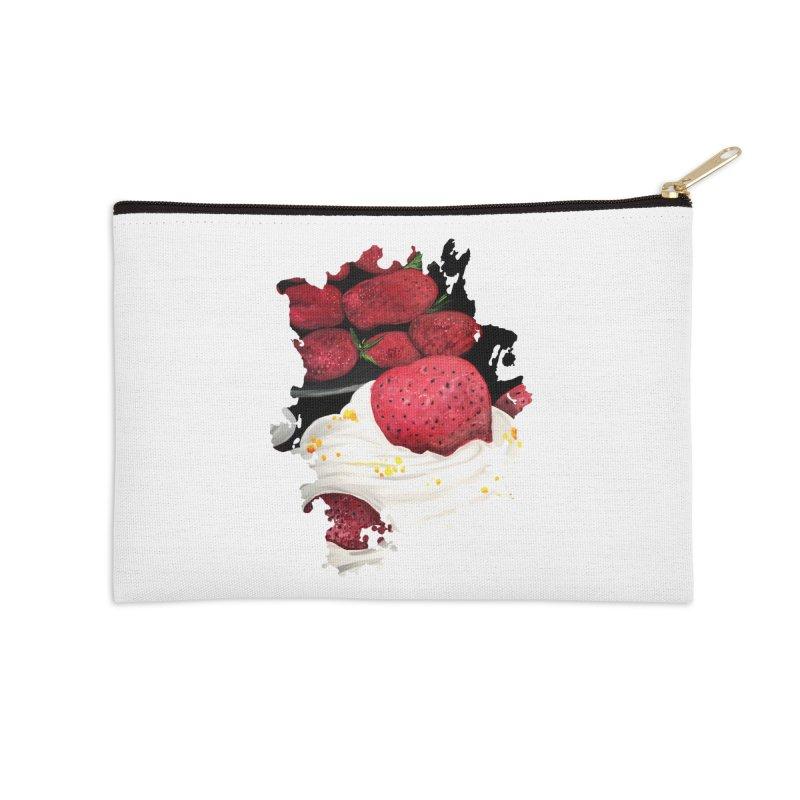 Strawberry Dream Accessories Zip Pouch by adamzworld's Artist Shop