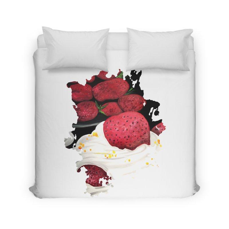 Strawberry Dream Home Duvet by adamzworld's Artist Shop