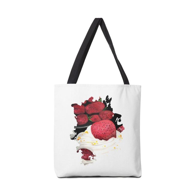 Strawberry Dream Accessories Bag by adamzworld's Artist Shop