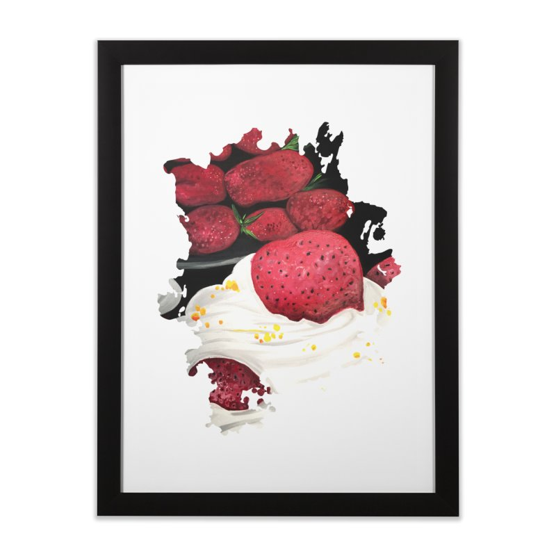 Strawberry Dream Home Framed Fine Art Print by adamzworld's Artist Shop