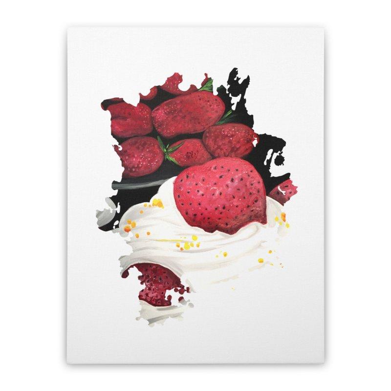 Strawberry Dream Home Stretched Canvas by adamzworld's Artist Shop