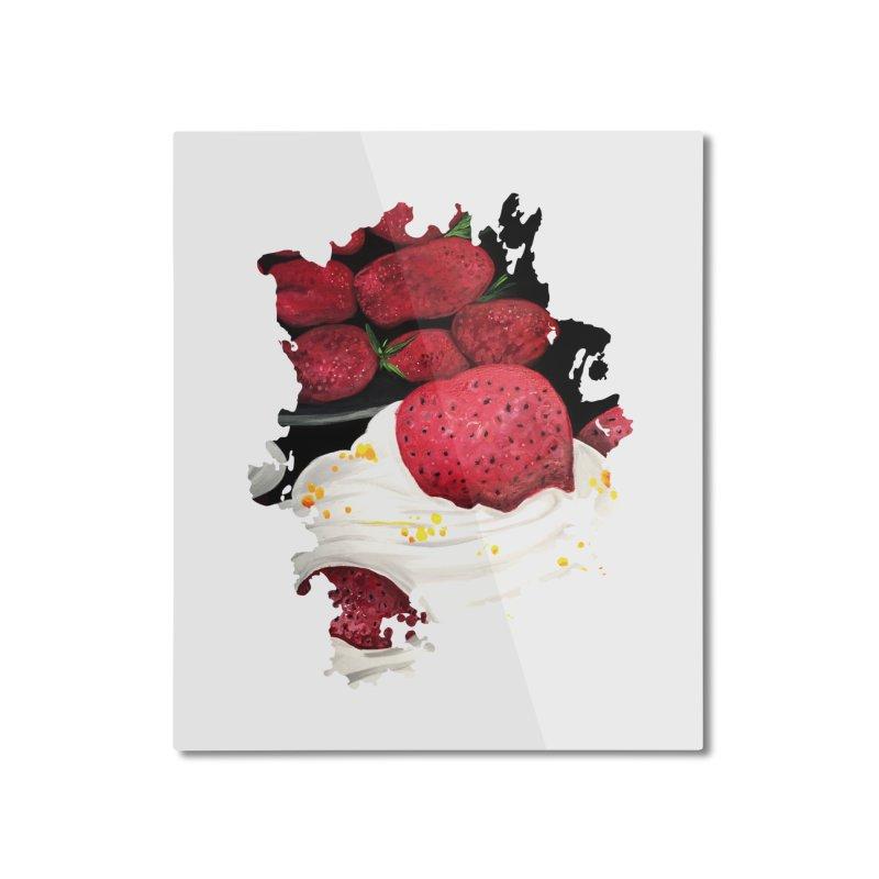 Strawberry Dream Home Mounted Aluminum Print by adamzworld's Artist Shop