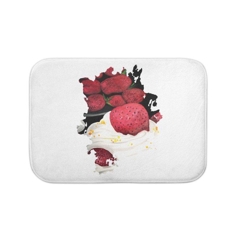 Strawberry Dream Home Bath Mat by adamzworld's Artist Shop