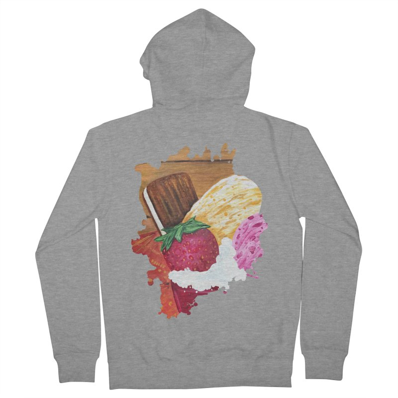 Ice Cream Dream Men's Zip-Up Hoody by adamzworld's Artist Shop
