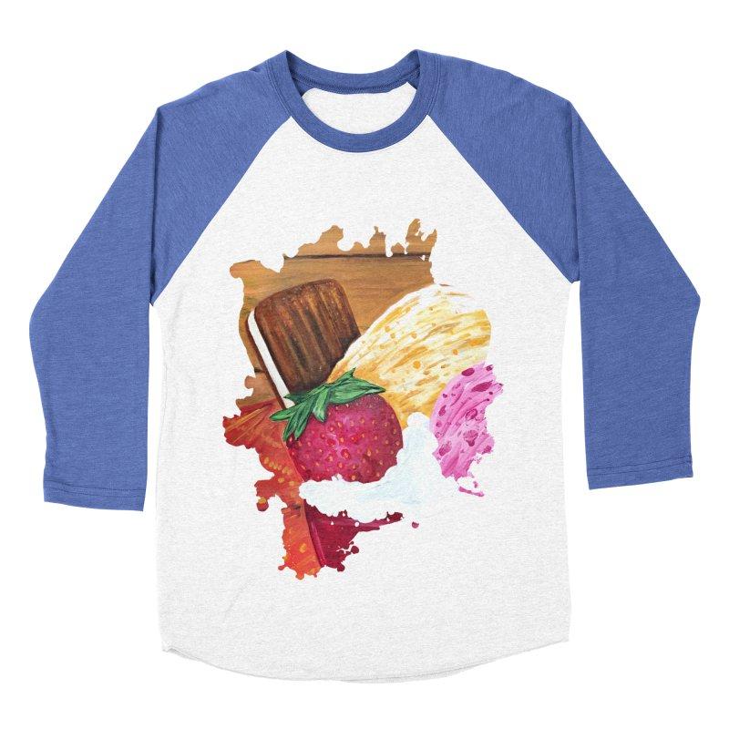 Ice Cream Dream Women's Baseball Triblend T-Shirt by adamzworld's Artist Shop
