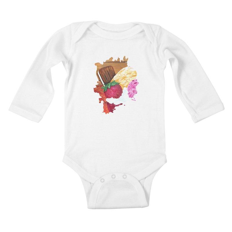 Ice Cream Dream Kids Baby Longsleeve Bodysuit by adamzworld's Artist Shop