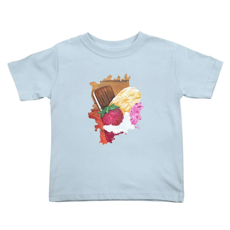 Ice Cream Dream Kids Toddler T-Shirt by adamzworld's Artist Shop