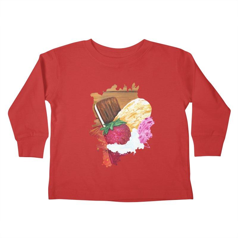 Ice Cream Dream Kids Toddler Longsleeve T-Shirt by adamzworld's Artist Shop