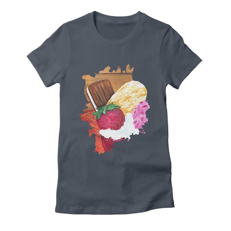 Ice Cream Dream Women's Fitted T-Shirt by adamzworld's Artist Shop
