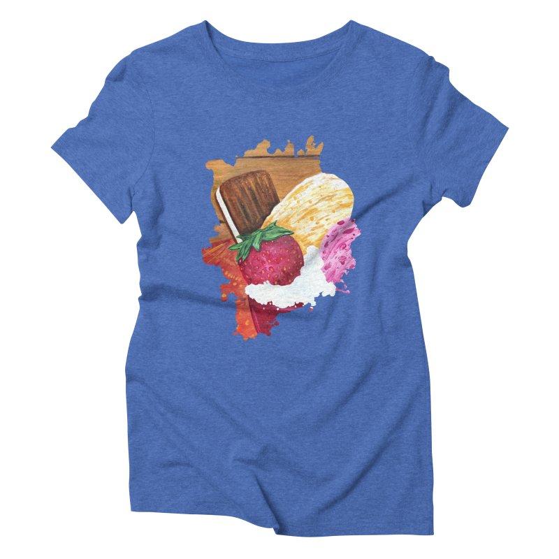 Ice Cream Dream Women's Triblend T-Shirt by adamzworld's Artist Shop