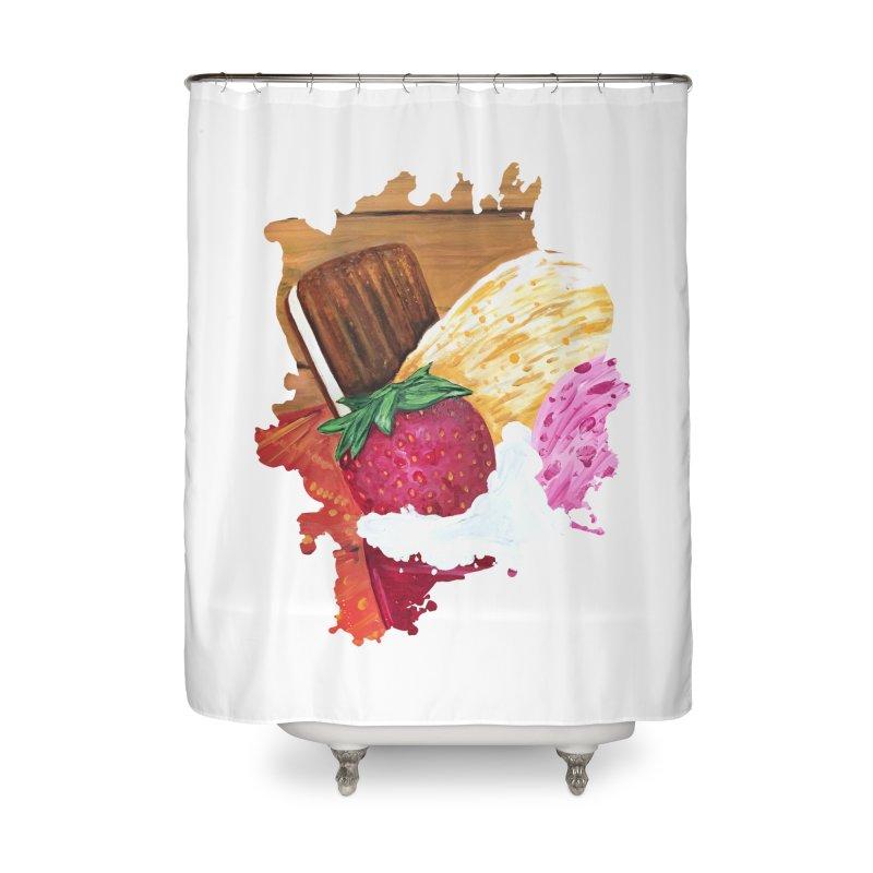 Ice Cream Dream Home Shower Curtain by adamzworld's Artist Shop