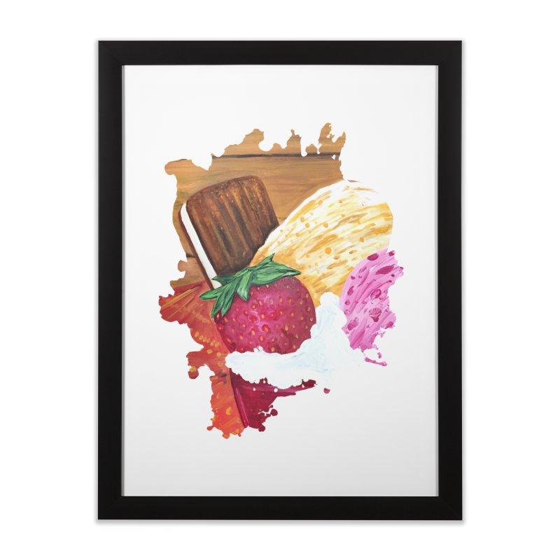 Ice Cream Dream Home Framed Fine Art Print by adamzworld's Artist Shop