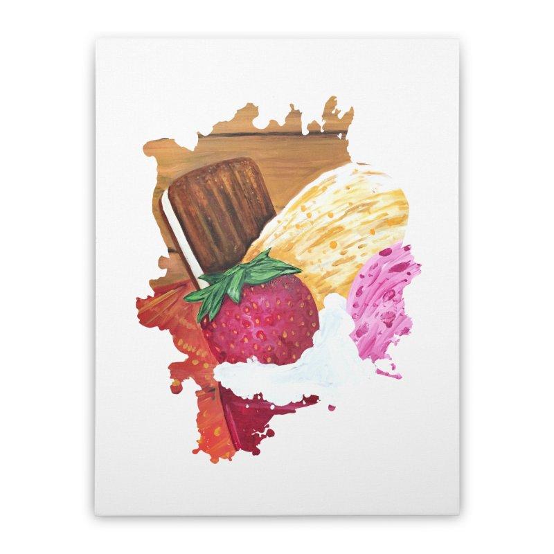 Ice Cream Dream Home Stretched Canvas by adamzworld's Artist Shop