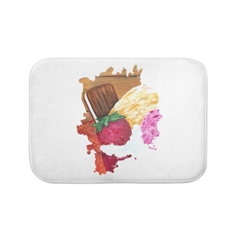 Ice Cream Dream Home Bath Mat by adamzworld's Artist Shop