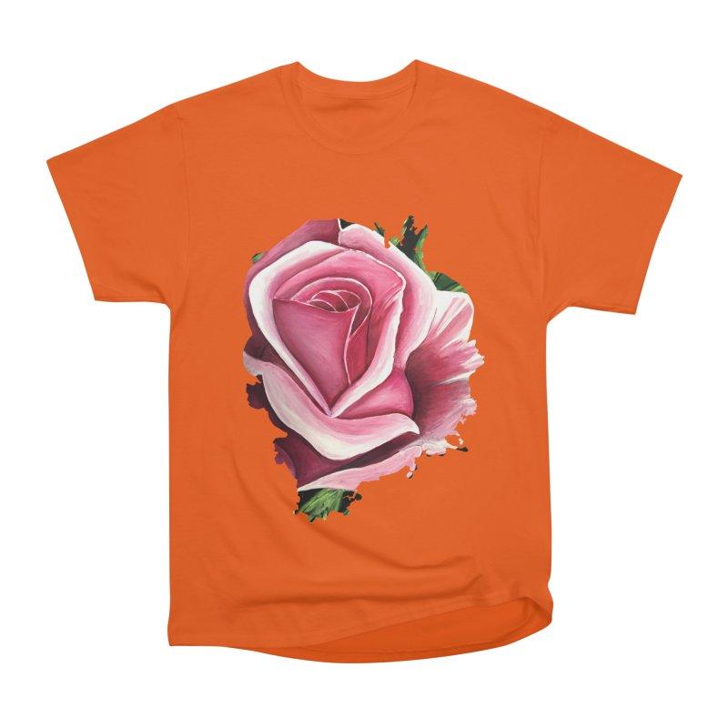 Pink Rose Men's Classic T-Shirt by adamzworld's Artist Shop