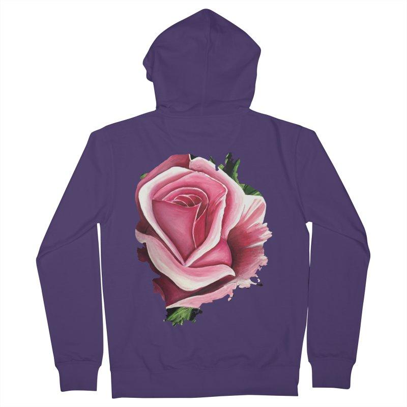 Pink Rose Women's Zip-Up Hoody by adamzworld's Artist Shop